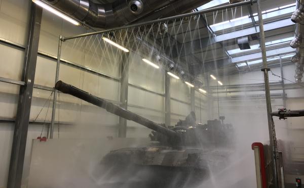 7017 instalatie de spalat vehicule militare mobydick