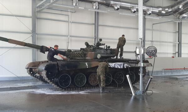 7018 instalatie de spalat vehicule militare mobydick